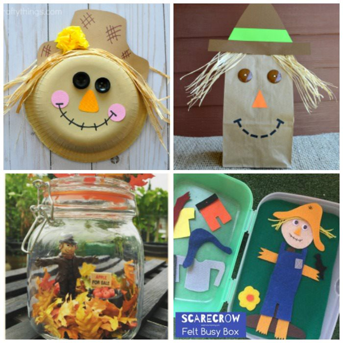 cute scarecrow crafts for kids
